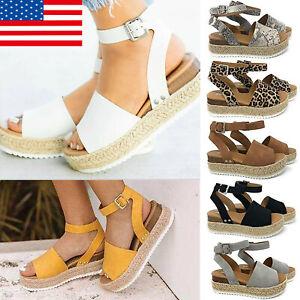 Women-Platform-Espadrilles-Slingback-Ankle-Strap-Beach-Sandals-Shoes-Size-US