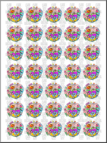 70x Amazing World Of Gumball Thank You Birthday Party Bags Stickers Cone Labels