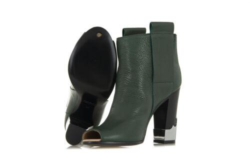 Bottines Noires Bottines Noires Vert Carreaux Femme Carreaux En À Bottes Cuir À Bottes w4nUxw