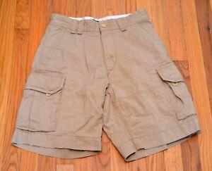 Polo Ralph Lauren Para Hombres 10 Cargo Clasico Pantalones Cortos Cintura Beige Khacki Talla 30 Ebay