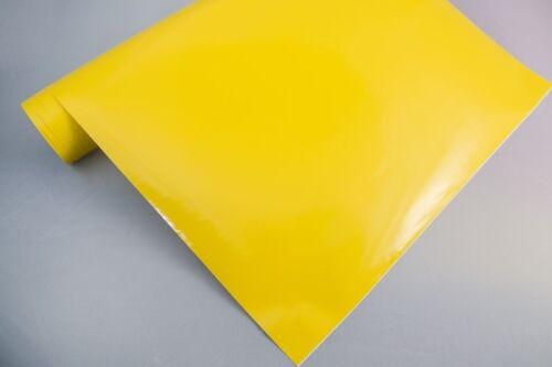 3,2€//m² Plotterfolie glänzend 17 gelb 125 x 106 cm Möbel-Folie selbstklebend