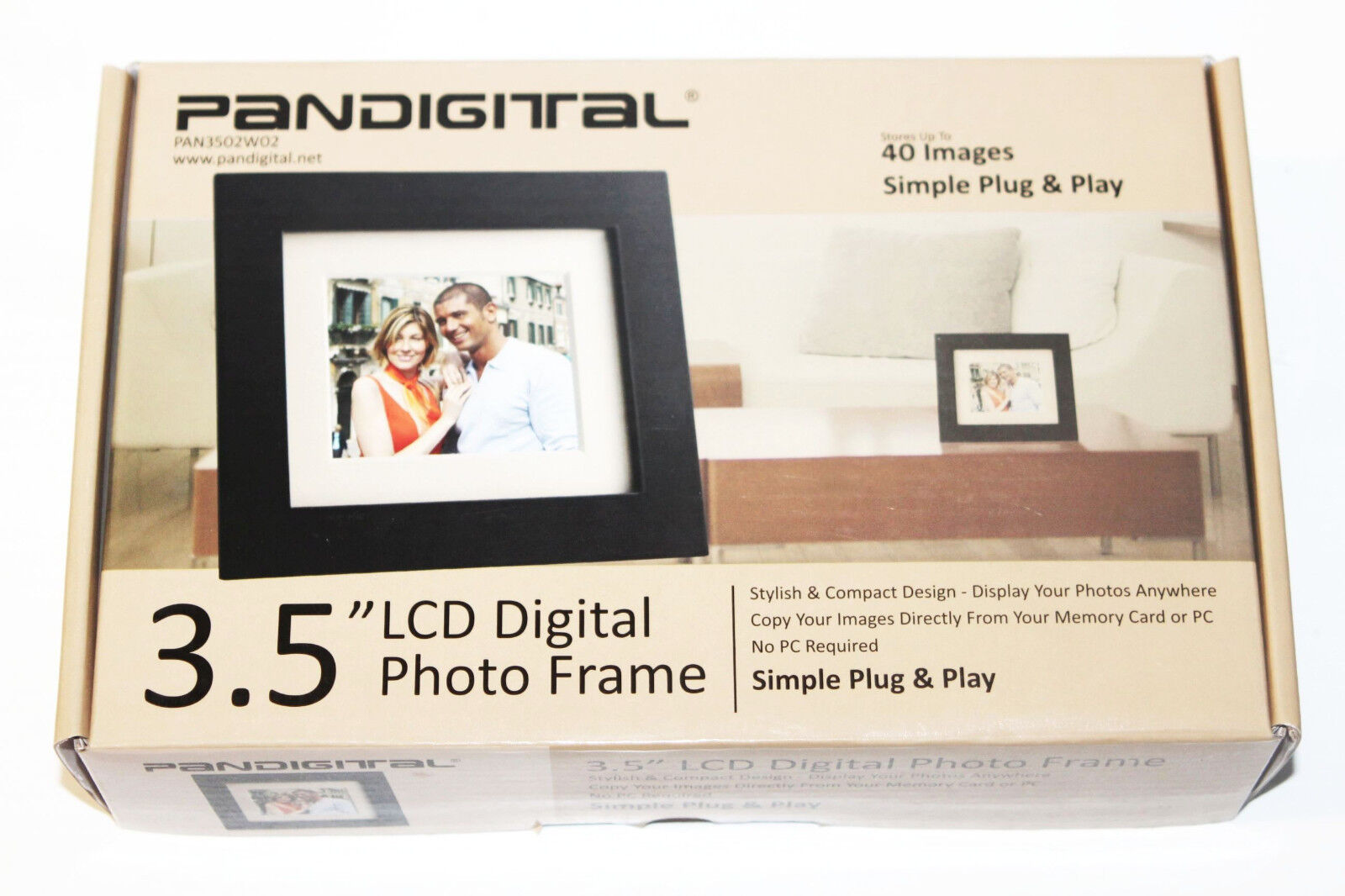 Pandigital PAN3502W02 3.5-Inch Digital Picture Frame Black