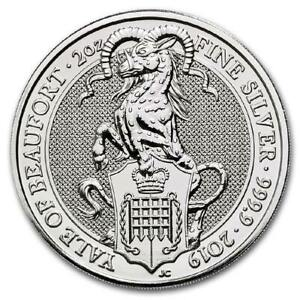 2019-U-K-5-Pound-2-Oz-Silver-Queen-039-s-Beast-Great-Britain-The-Yale-of-Beaufort