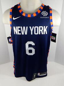 new arrival 81c1f f60ac Details about Mens New York Knicks Kristaps Porzingis #6 Blue Jersey  Swingman City Edition XL