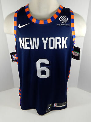 the best attitude d90b0 433de Mens New York Knicks Kristaps Porzingis #6 Blue Jersey Swingman City  Edition XL | eBay