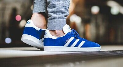 Adidas Gazelle Originals Shoes Sneakers Royal Blue/White/Gold S76227 Men's 9 | eBay