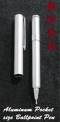 MUJI pocket size compact Mini Aluminum Gel ink Ballpoint Pen MOMA Handy Portable