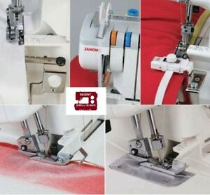 Taping,Cording,Gathering,Elastic/&Tape Janome Overlock Machine Attachment Set A