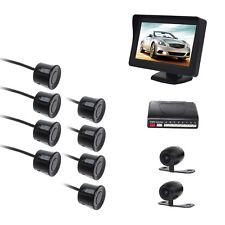 8 Sensors Parking Reversing Radar System with 2 Camera (Front +Rear) LCD Monitor