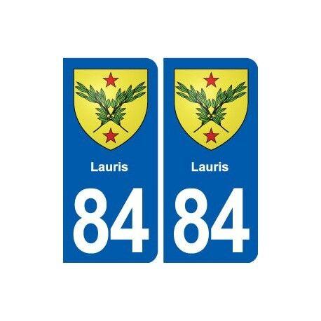 84 Lauris blason autocollant plaque stickers ville droits