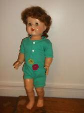 "Ideal 22"" saucy walker doll red hair rare brown & green eye flirty sleep teeth"