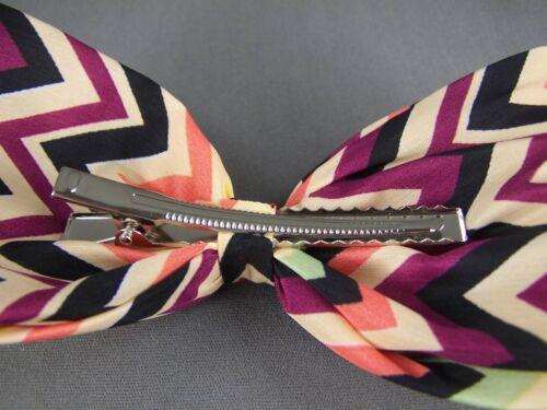 """Cream Black fabric big Huge BOW 6/"""" wide barrette hair clip gator claw kawaii"""