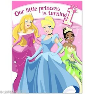 Image Is Loading DISNEY PRINCESS 1st BIRTHDAY INVITATIONS 8 First Party