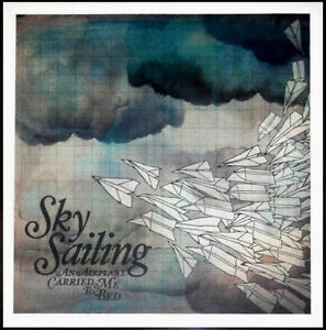 SKY-SAILING-An-Airplane-Carried-Me-Bed-Ltd-Ed-Discontinued-New-RARE-Litho-Poster