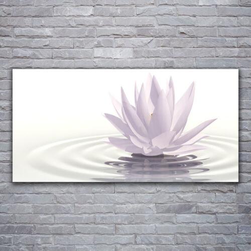 Wandbilder Glasbilder Druck auf Glas 120x60 Blume Wasser Kunst