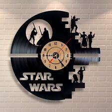 STAR WARS  Handmade Vinyl Record Modern Vintage  Wall Clock