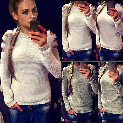 Women Long Sleeve Knitted Cardigan Loose Sweater Outwear Coat Casual Sweater Top
