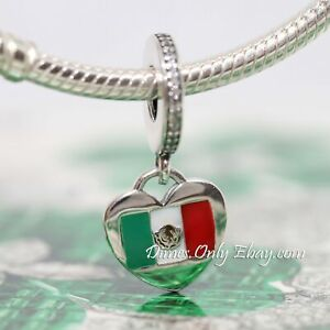 Authentic Pandora Love Mexico Flag Heart Sterling Silver Charm | eBay