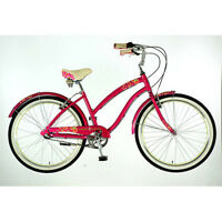 Dawes Strawberry Ladies 26 Wheel 3 Speed Nexus Alloy Beach Cruiser Bike Bicycle