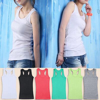 Ladies Free Size  Sleeveless Tank Tops Cami No Sleeve T Shirt  Athlet Plain Vest