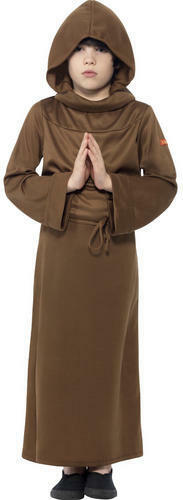 Monk Boys Fancy Dress Medieval Friar Tuck Childrens Kids Costume Childs Outfit