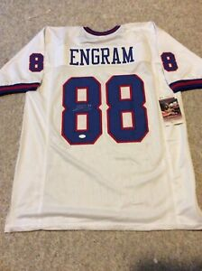 wholesale dealer f78d2 221cd Details about EVAN ENGRAM WHITE SIGNED JERSEY NEW YORK GIANTS OLE MISS  FOOTBALL JSA COA