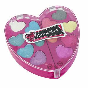 Make-Up-Herz-Pink-Kinderschminke-Schminkset-fuer-Kinder-Kosmetik-Palette-Glitzer