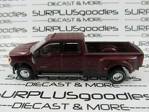 Greenlight-1-64-LOOSE-Ruby-Red-2019-FORD-F-350-F350-Lariat-Dually-Pickup-Truck
