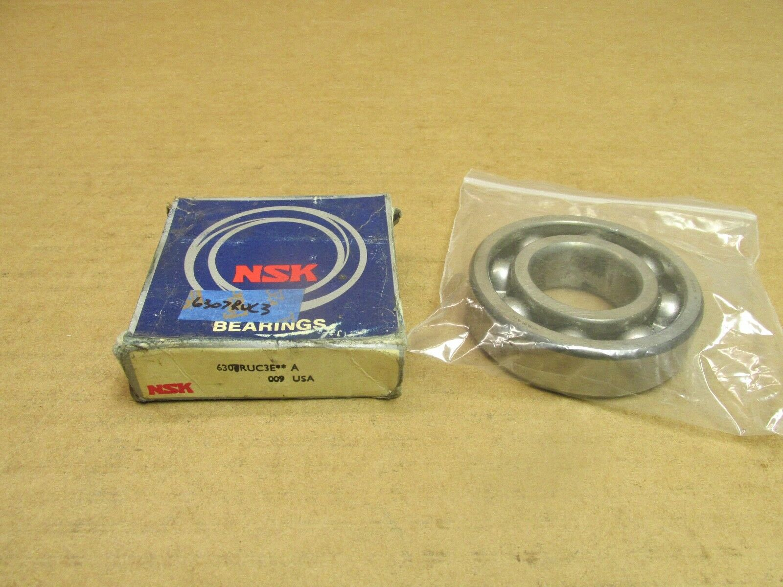 NSK 6307VVC3 BEARING RUBBER SEALED 6307 VV C3 6307-2RS-C3 35x80x21 mm
