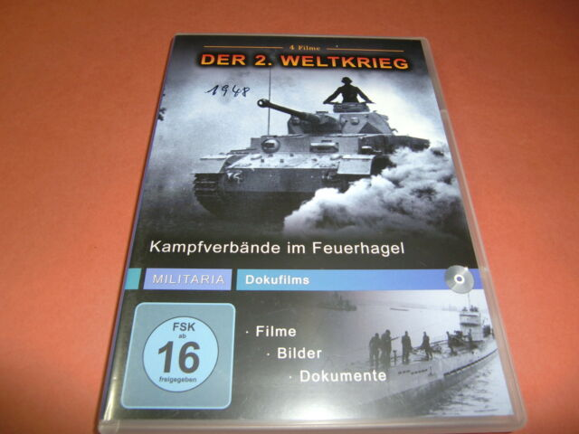 Militaria Dokufilms - 2. Weltkrieg- Kampfverbände im Feuerhagel - DVD