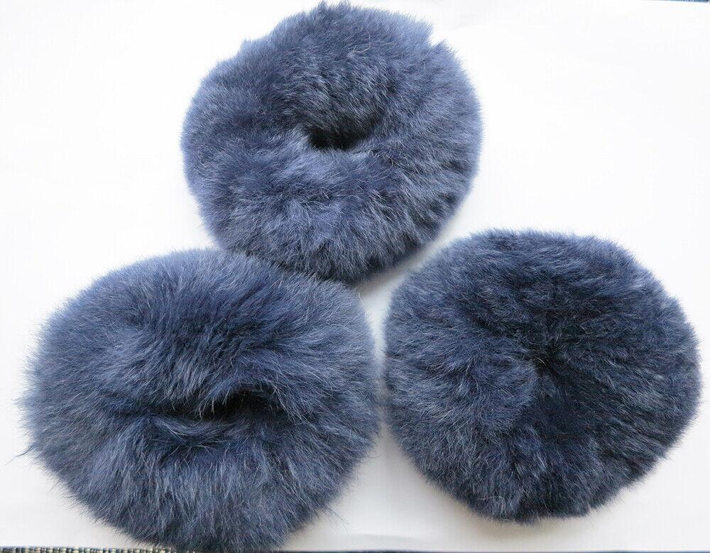 3pcs of real rabbit fur hair scrunchies ponytail holder