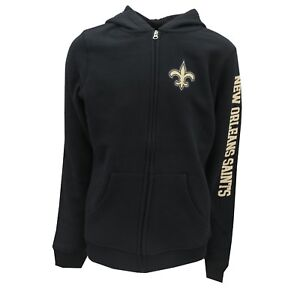 40031224 Details about New Orleans Saints Official NFL Kids Youth Girls Size Full  Zip Hooded Sweatshirt