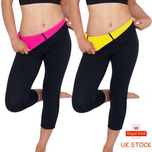 3169d2bbc1 Thermo Sweat Hot Neoprene Body Shaper Pants Slim Legging Yoga 3 4 ...