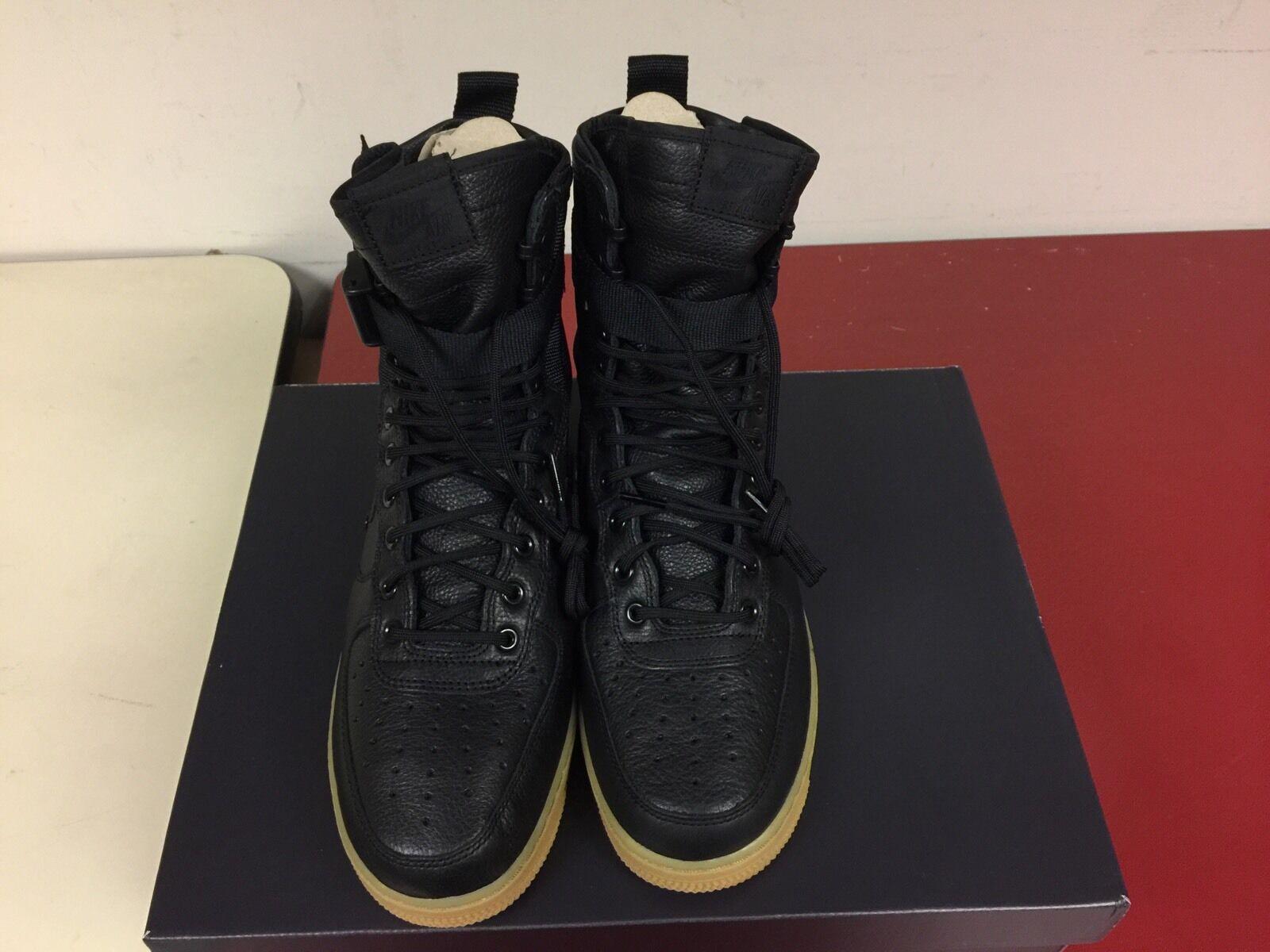 Nike Special Field SF AF Air Force 1 Black Gum Olive 859202-009 Ship Now SZ 9.5