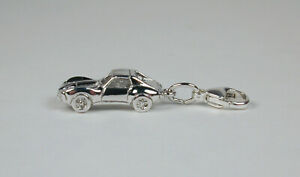 Sterling-Silver-Corvette-Stingray-Charm-Lobster-Claw-Clasp-Free-U-S-Shipping
