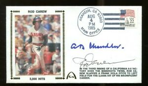 Rod-Carew-AB-Happy-Chandler-Signed-FDC-First-Day-Cover-Autographed-Angels-56177