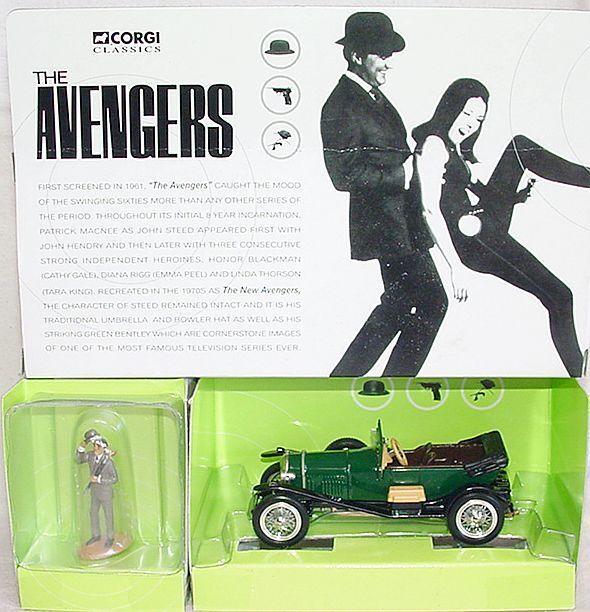Corgi Toys 1:43 BENTLEY  THE AVENGERS   + John Steed Fig. TV Movie Model Car MIB
