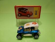 MAJORETTE 248 DUNE BUGGY - METALLIC BLUE 1:55 RARE - VW - NEAR MINT IN BOX