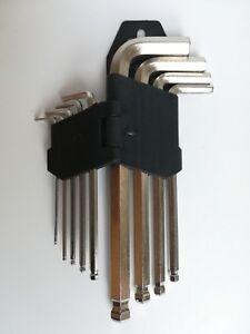 10-tlg-Inbusschluessel-Set-Satz-Imbusschluessel-Inbus-Innensechskantschluesselsatz