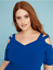 Lane-Bryant-Strappy-Shoulder-Fit-amp-Flare-Dress-Plus-22-24-26-28-True-Blue-3x-4x thumbnail 6