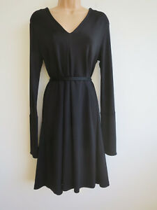 Image is loading Other-Stories-black-dress-tent-dress-over-long- & Other Stories black dress tent dress over-long sleeves stretch ...