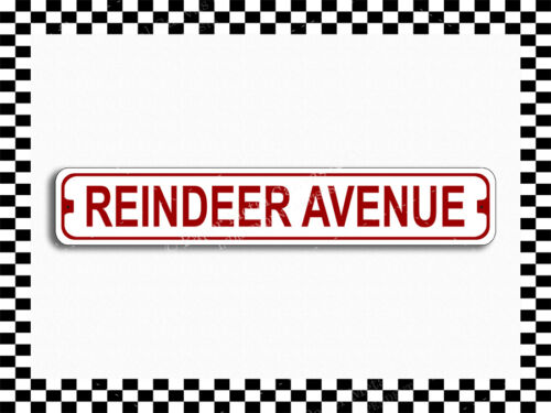 SA-1361 Reindeer Avenue Street Sign 3x18 Metal Plaque