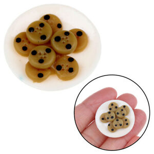 1-12-Chocolate-Cookies-Miniature-Dollhouse-Kitchen-Decoration-Biscuits-Toys-BX