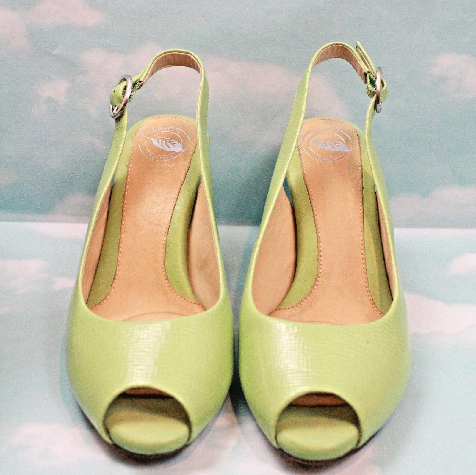 Nurture Women's Patent Green Leather Peep Toe Slingback Sandals, Mint Green Patent Size 6.5 37c4e3