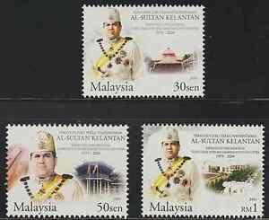 (311A)MALAYSIA 2004 KELANTAN SULTAN SET FRESH MNH