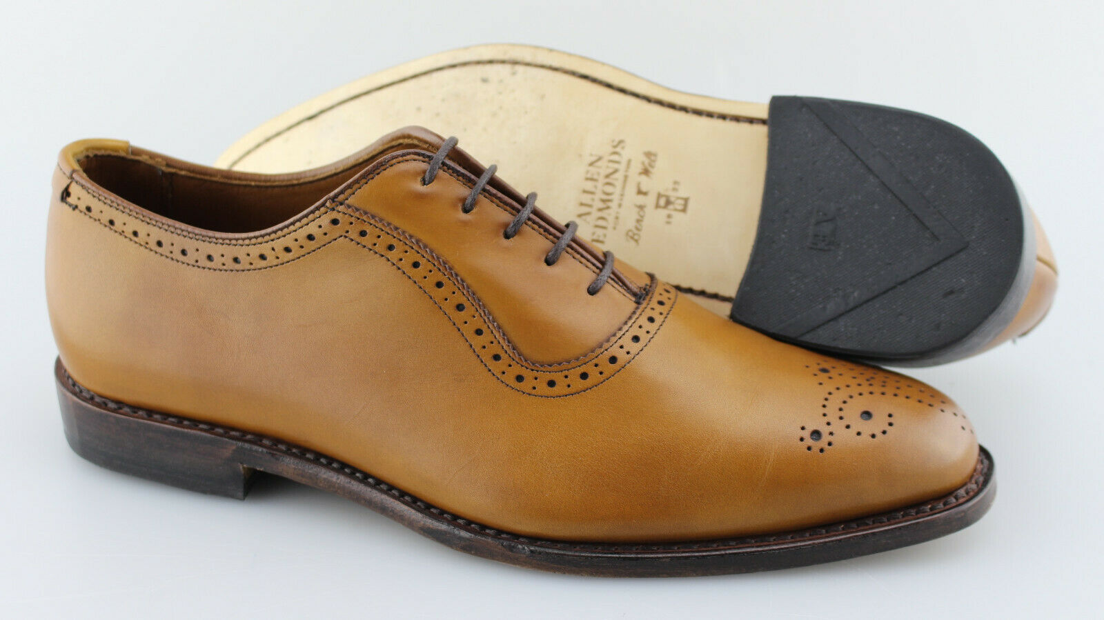 Men's ALLEN EDMONDS 'Cornwallis's nogal marrón cuero oxfords tamaño nos 10-D