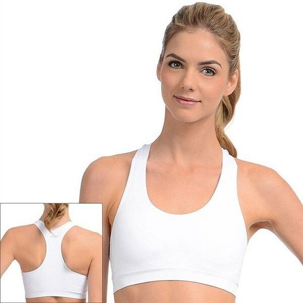 a2e7e168da07f Jockey Sport Racerback Removable Cup Seamless Bra 6997 White M for sale  online