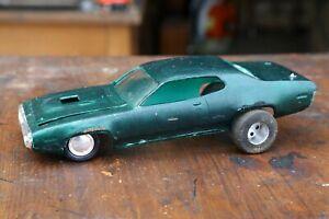 Vintage-1-24-Plastic-Model-Slot-Car-Body-Pontiac-GTX-With-wheels-parts-repair