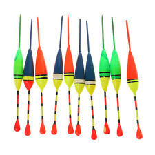10Pcs Fishing Lure Plastic Floats Bobbers Slip Drift Tube Indicator Tackle