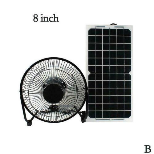 10W 12V Solar Panel /& Fan RV Touring Car Camping Pet Chicken Ventilator Hou X